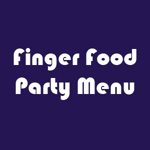 Finger food party menu
